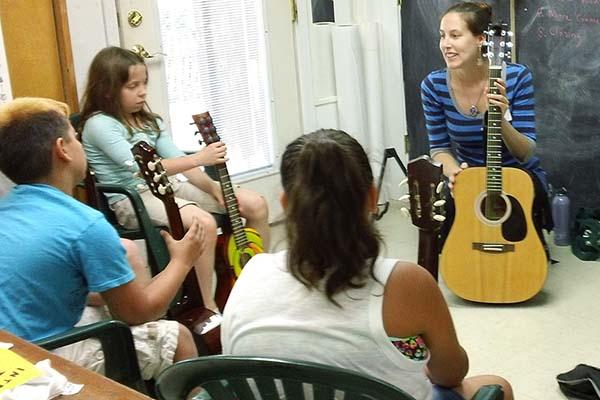 Amanda West guitar class summer art camp