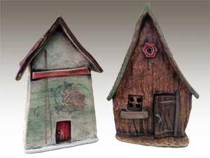Santa Cruz Mountains Art Center classes: Ceramic houses with Carolyn Lee