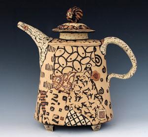 Santa Cruz Mountains Art Center ceramics class: Soft clay slab teapots with Elaine Pinkernell
