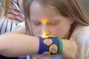 circuits LEDs art class fun