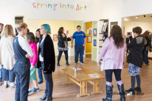 spring into art reception fun